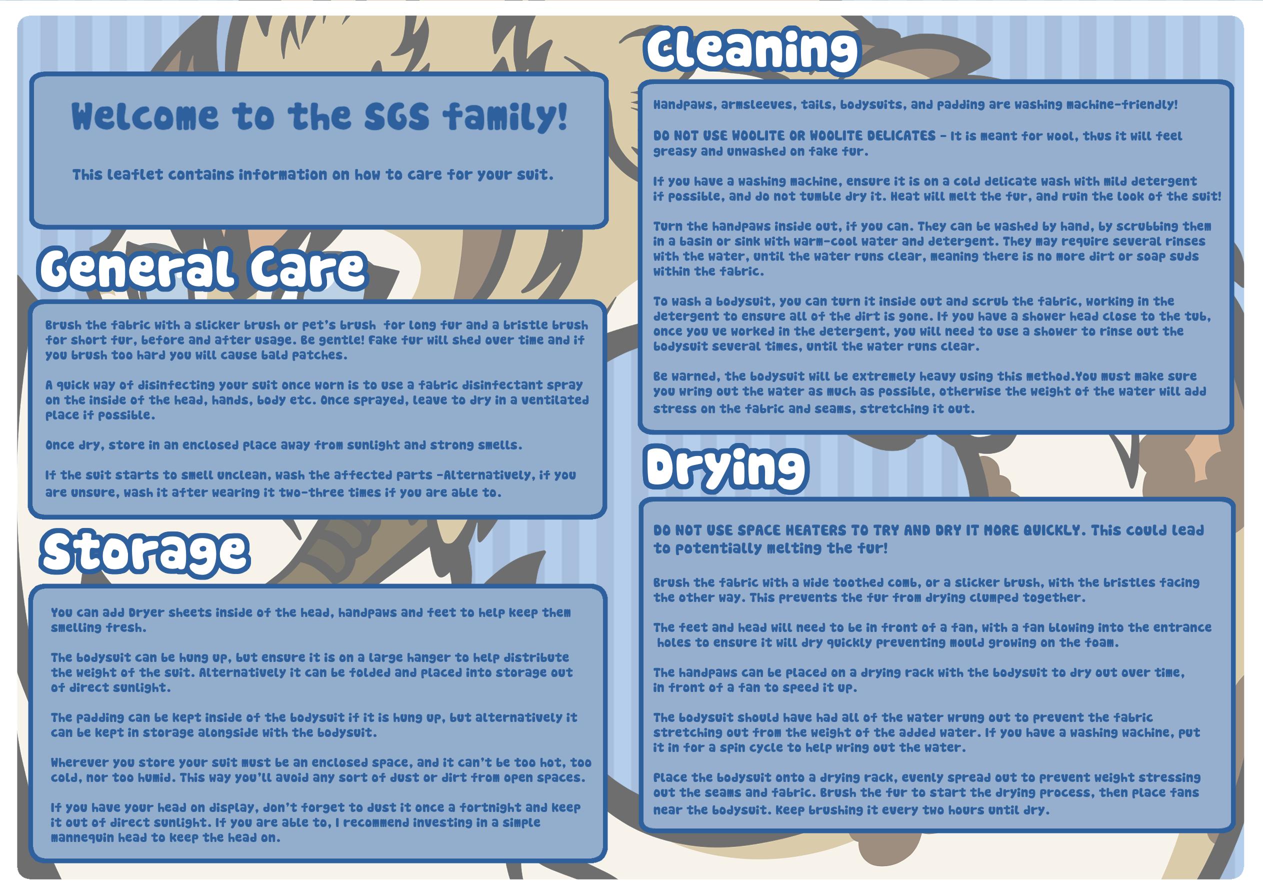Care leaflet